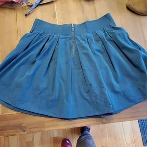 Forever 21 Skirts - Dark teal skater skirt with pockets